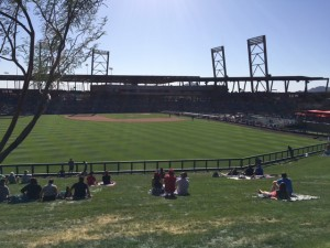 © Pinstripe Princess - view from The Lawn at Salt River Field